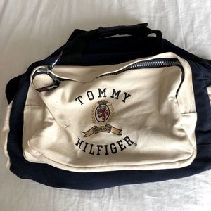 Tommy Hilfiger canvas duffel bag
